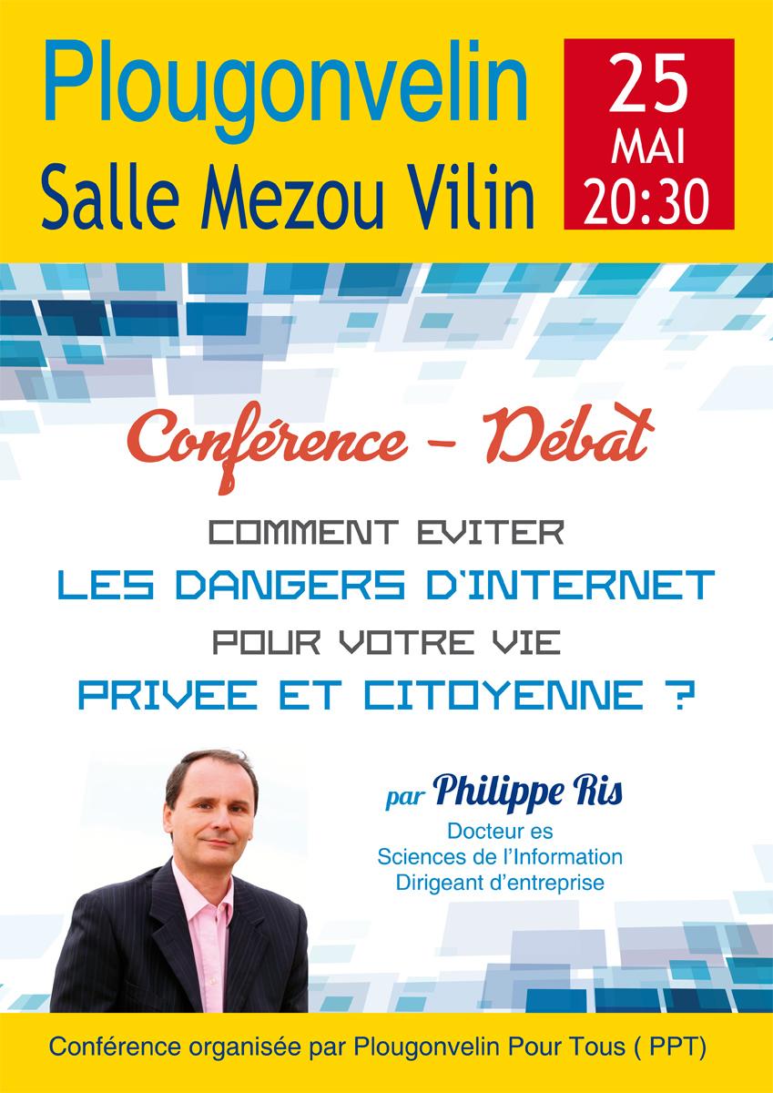 """Conférence PPT """"les dangers de l'internet sur la vie privée et citoyenne"""""""